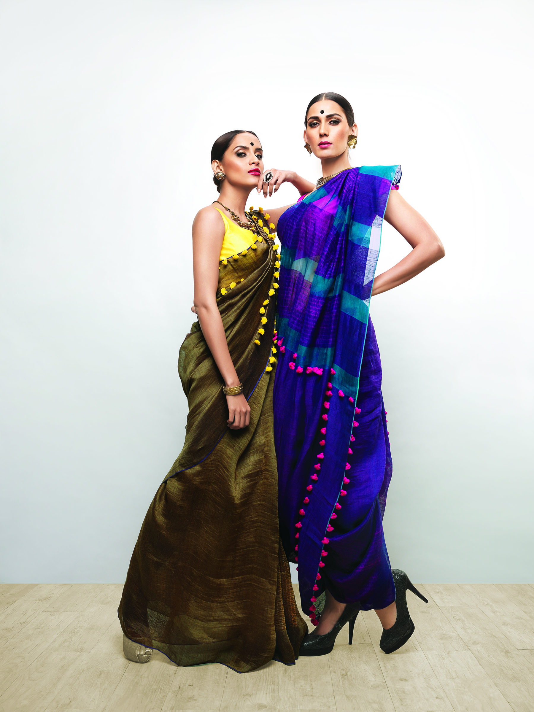 Linen Club Saree 18'